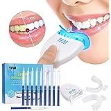 Teeth Whitening Kit ,Luckyfine Home Professional Sbiancamento dei denti Set Teeth Whitening Bleaching System, 10x Sbiancamento dei denti 2x Kit vassoi per gel e luce laser