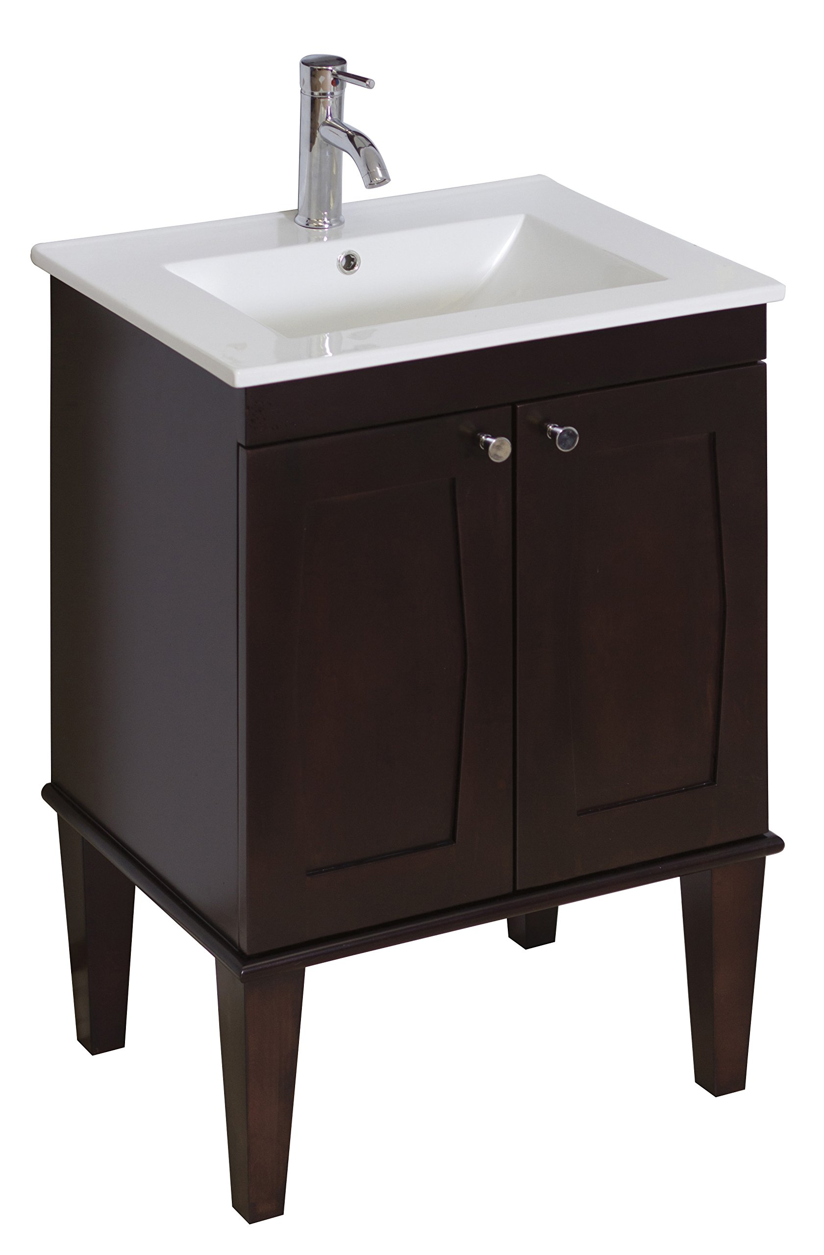 32-in. W X 18-in. D Transitional Birch Wood-Veneer Vanity Base Only In Antique Walnut by American Imaginations (Image #1)