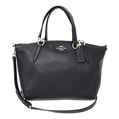 3d37a733 Coach Leather Small Kelsey Cross Body Bag, Medium, Black