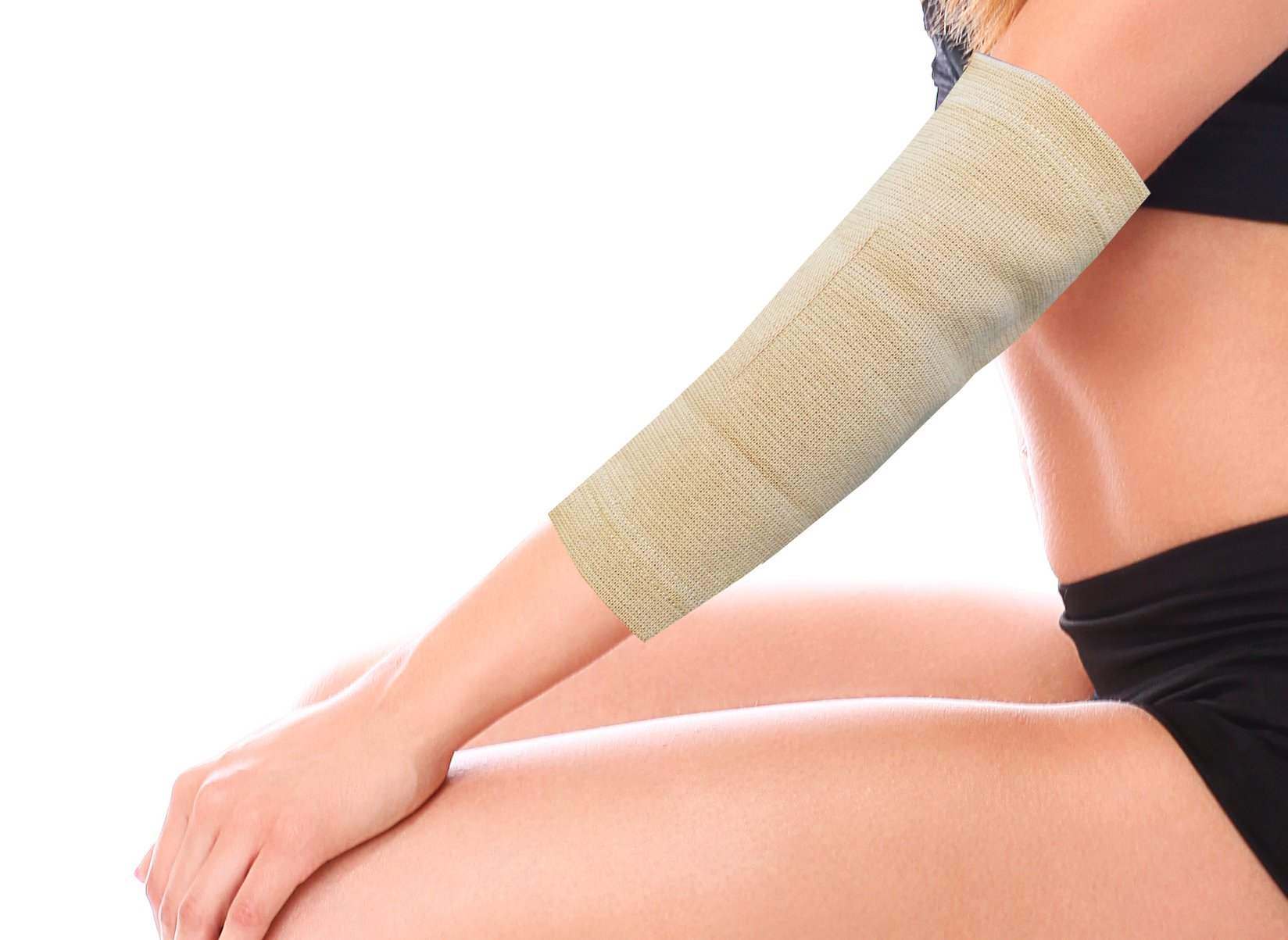 Teleshop Medical Grade Compression Therapy Elbow Support, Nude, 2 Ounce (Pack of 12)