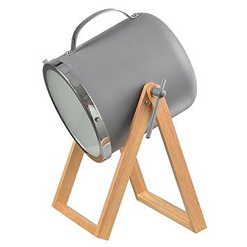 H38 5cm Bois Projecteur À Poser Métal Et Forme Gris Summer Lampe En eoxWrQdCB