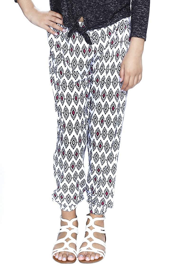 Grayson Shop Big Girls Printed Elastic Jogger Pants 0KLEEG
