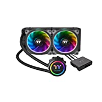 Thermaltake CL-W157-PL12SW-A Floe Dual Ring RGB 240mm Ready AIO Liquid Cooling System CPU Cooler