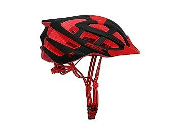 MSC Bikes HX100SMBKRD Casco de MTB, Rojo y Negro, S/M (55cm