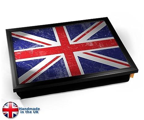 Union Jack Flag UK United Kingdom Cushion Lap Tray Cojín ...