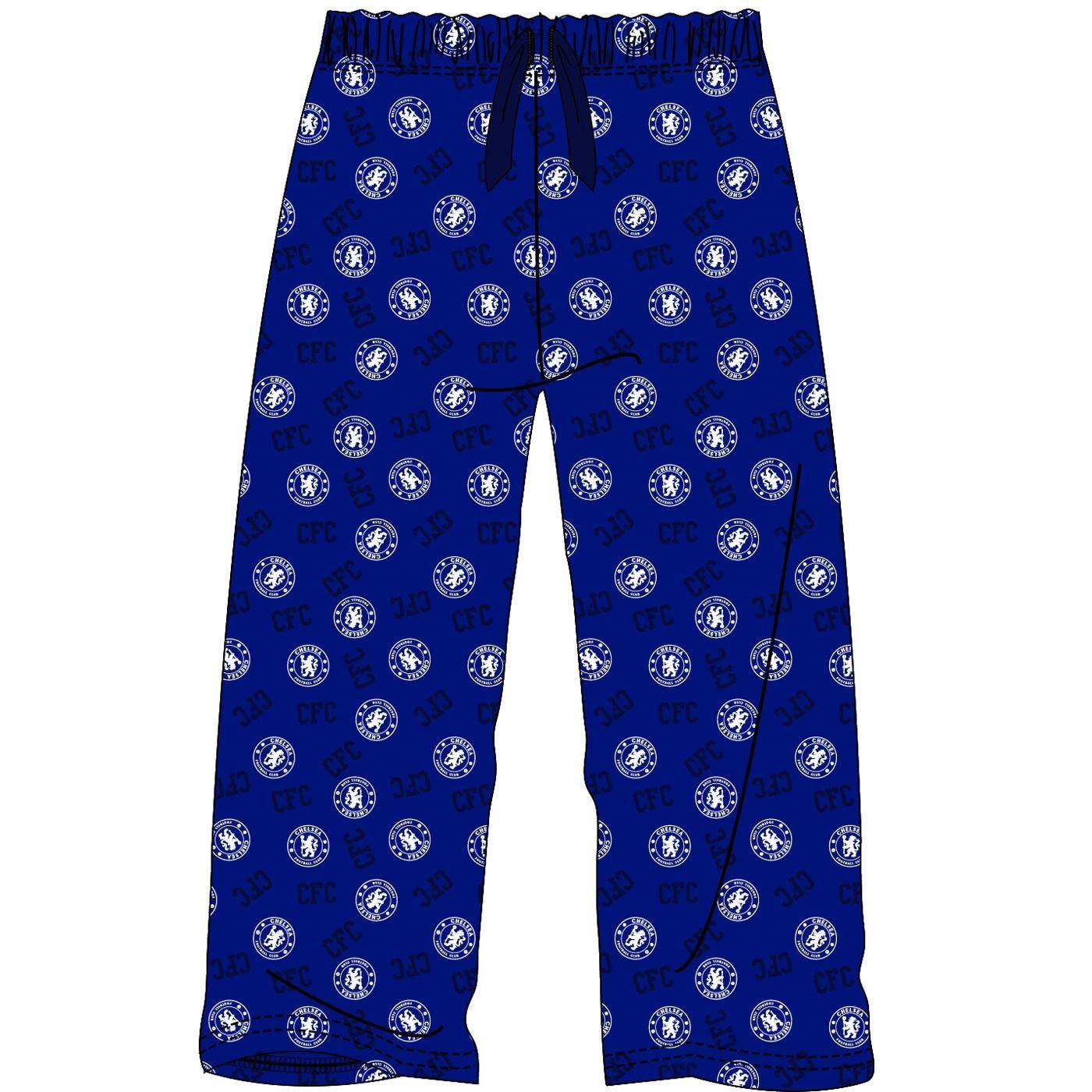M Mens Chelsea Football Club Blue Lounge Pants Pyjama Bottoms Pyjamas Size S L XL