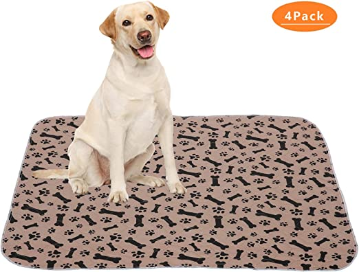 Washable Pee Pads for Dogs Reusable Whelping Pads for Dog Crate 89x122cm-L Geyecete Waterproof Dog Mat Non-Slip 2 Pack Puppy Potty Training Pads