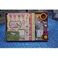Asian Hobby Crafts DIY Book Kit : Contents - Chipboard Sheet , Pattened Paper , Sticker and Embellishments : SCD002