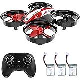 Holy Stone HS210 Mini Drone RC NO Cámara Nano Quadcopter Mejor Drone para niños y Principiantes Avión de helicóptero RC con Auto Hovering, 3D Flip, Modo sin Cabeza y baterías adicionales