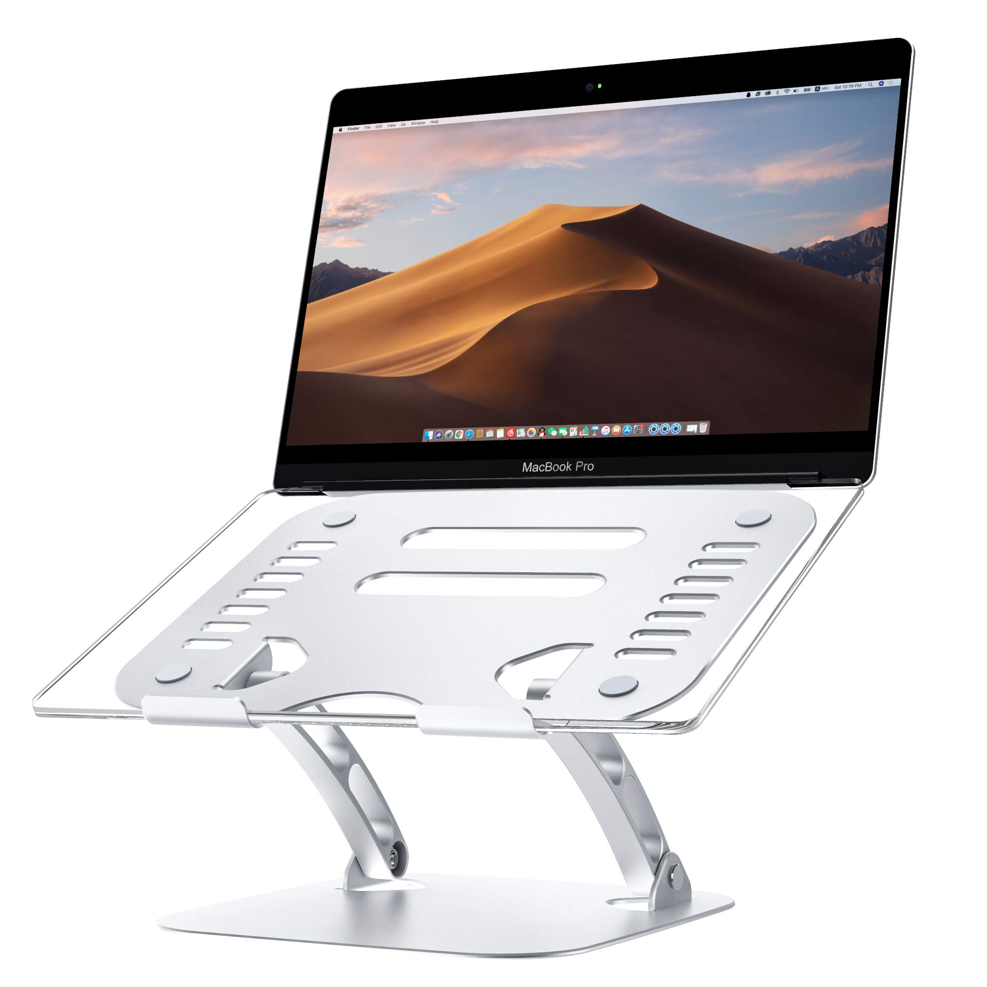 Laptop Stand Adjustable Height Ergonomic Detachable Computer Stand Aluminum Computer Riser with