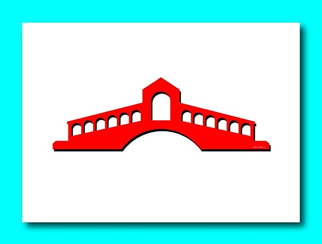 Amazon greeting card blank greeting card a bridge in venice greeting card blank greeting card a bridge in venice italy called the rialto bridge blank note m4hsunfo