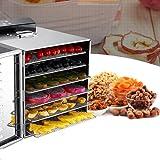 Aosnow 食品乾燥機 フードディハイドレーター 6層 野菜 果物 キノコ 花 乾燥 ドライフルーツ 野菜ドライヤー 大容量 業務用 家庭用 食品グレード304 ステンレス鋼