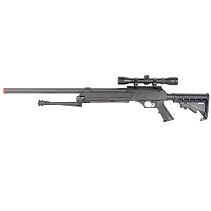 BBTac Powerful And Precision Spring Airsoft Sniper Rifle Gun, Heavy Weight  with 3x Scope and Bipod