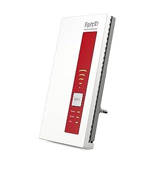 AVM FRITZ!WLAN Repeater 1160 (Dual-WLAN AC + N bis zu 866 MBit/s 5 GHz + 300 MBit/s 2,4 GHz), Rot/Weiß, deutschsprachige Vers
