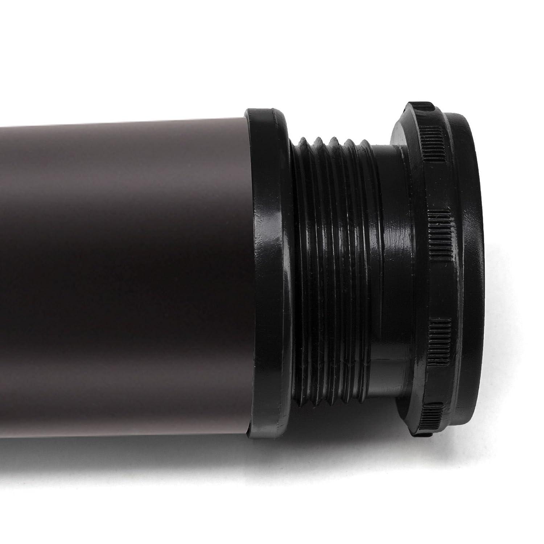 SET de 4 x SO-TECH/® Pied de Meuble JIMMY vrai Acier Inox /Ø 50 mm//Hauteur 80 mm Pied pour Canap/é