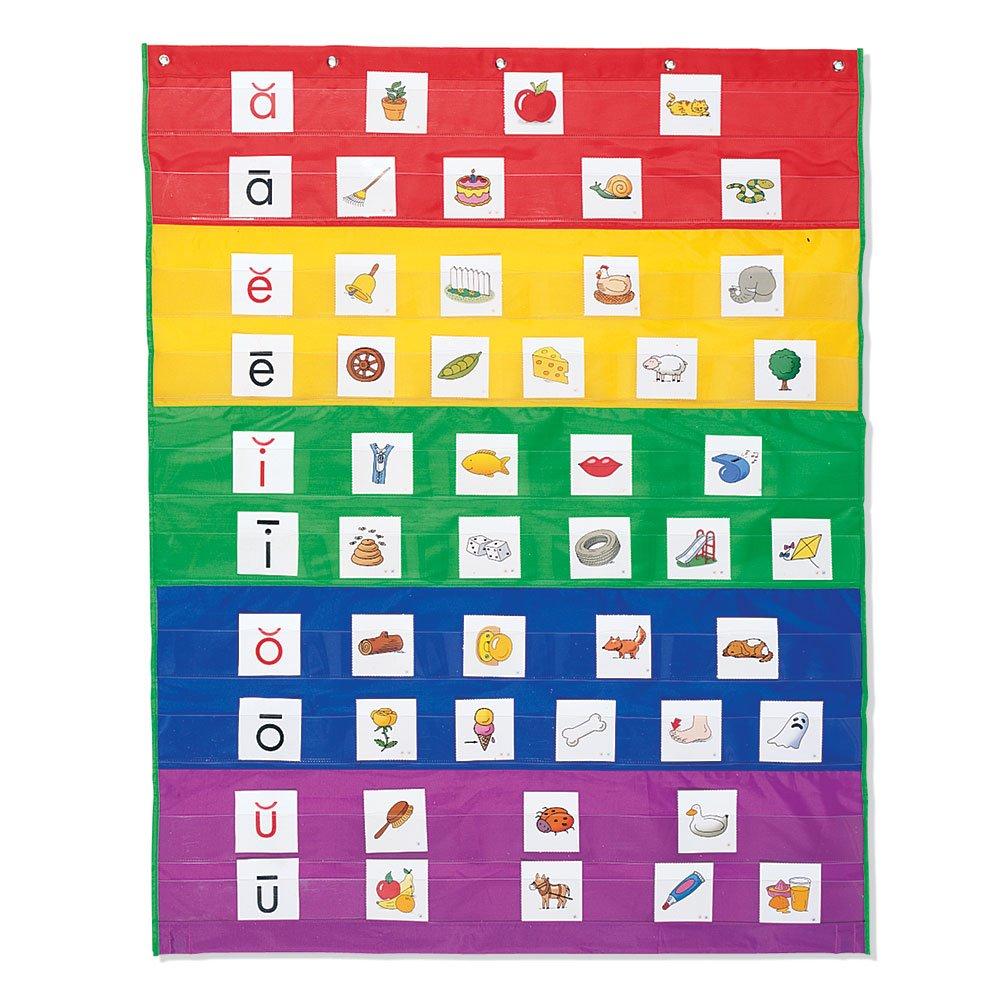 Amazon.com : Learning Resources Rainbow Pocket Chart, Nylon ...