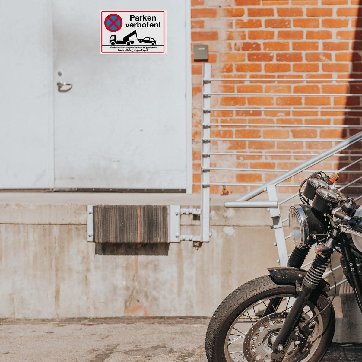 Parkplatz G/äste Wandkings Hinweisschild stabile Aluminium Verbundplatte 20x15 cm W/ähle eine Gr/ö/ße