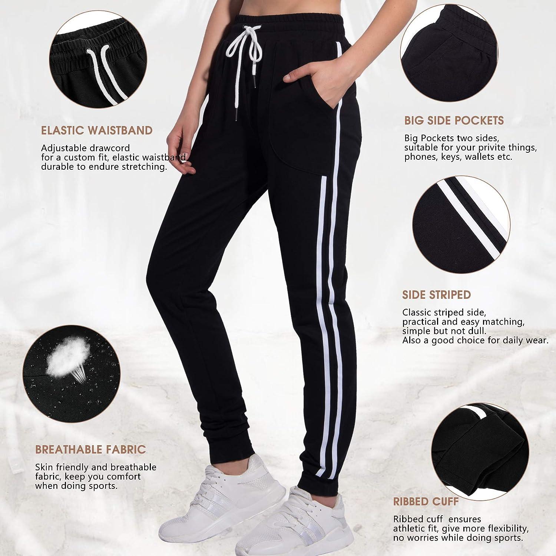 f3f88af4e95fb Amazon.com: PULI Women's Running Yoga Jogger Drawstring Waist Sweatpants  with Pockets: Clothing