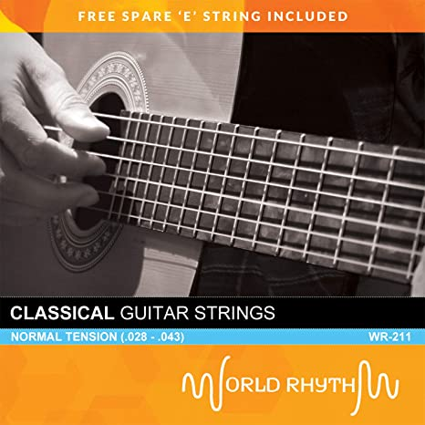World Rhythm - Cuerdas de guitarra clásica de nailon de tensión ...