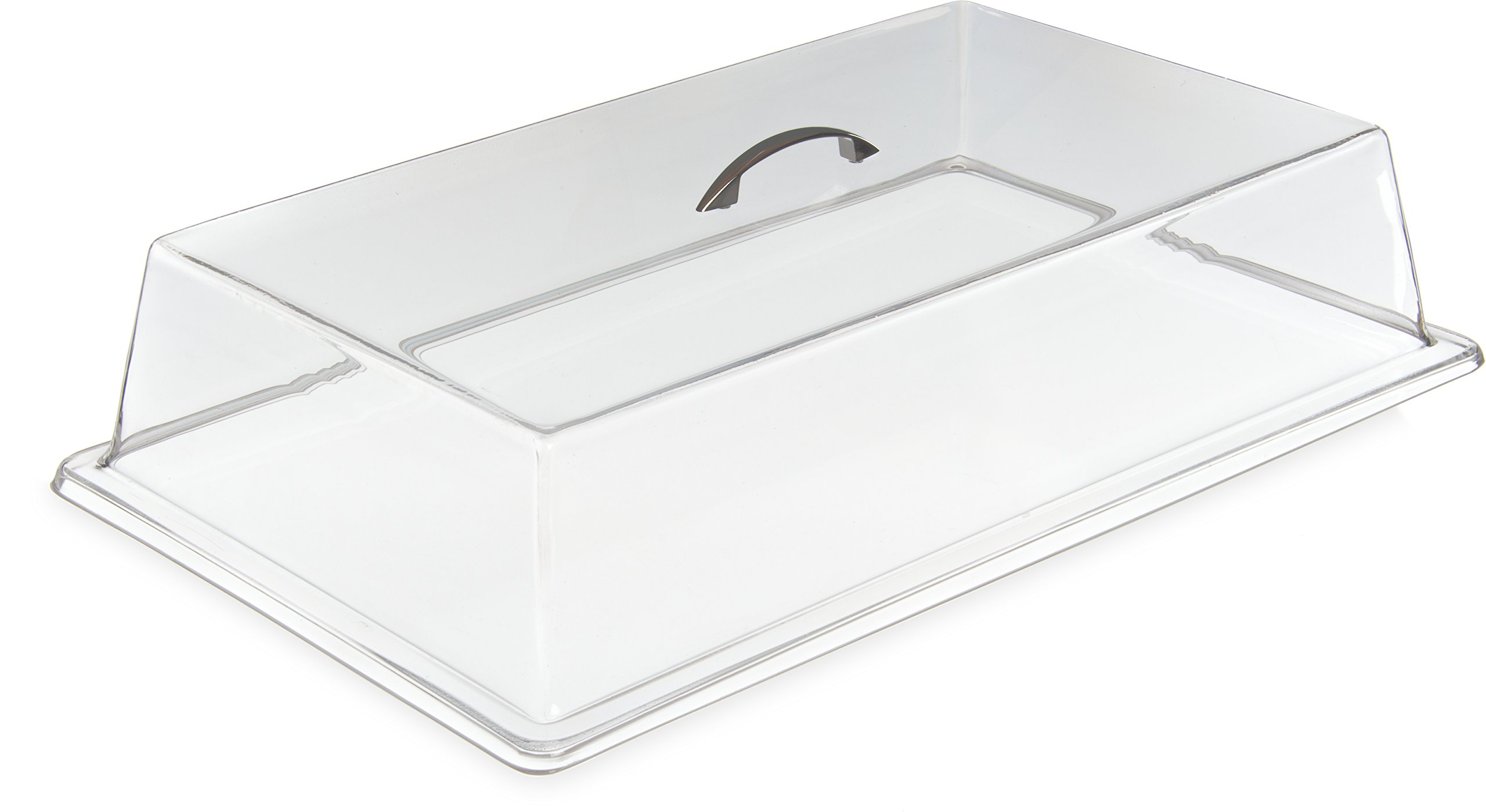 Carlisle SC2707 Acrylic Cafeteria Pan Cover, 4.25'' x 11.37'' x 19.31'', Clear (Case of 3)
