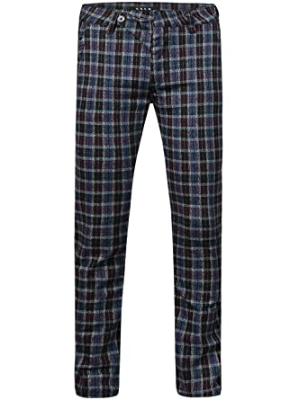 SSLR Men's Plaid Casual Long Pants at Amazon Men's Clothing store: