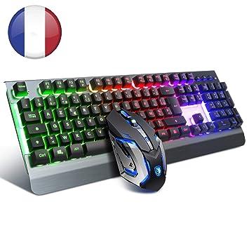 Teclado para Juegos y ratón, Teclado para Juegos SADES con Cable para PC/Mac/Win, ratón para Juegos con 6 dpi y Teclado USB para Juego: Amazon.es: ...