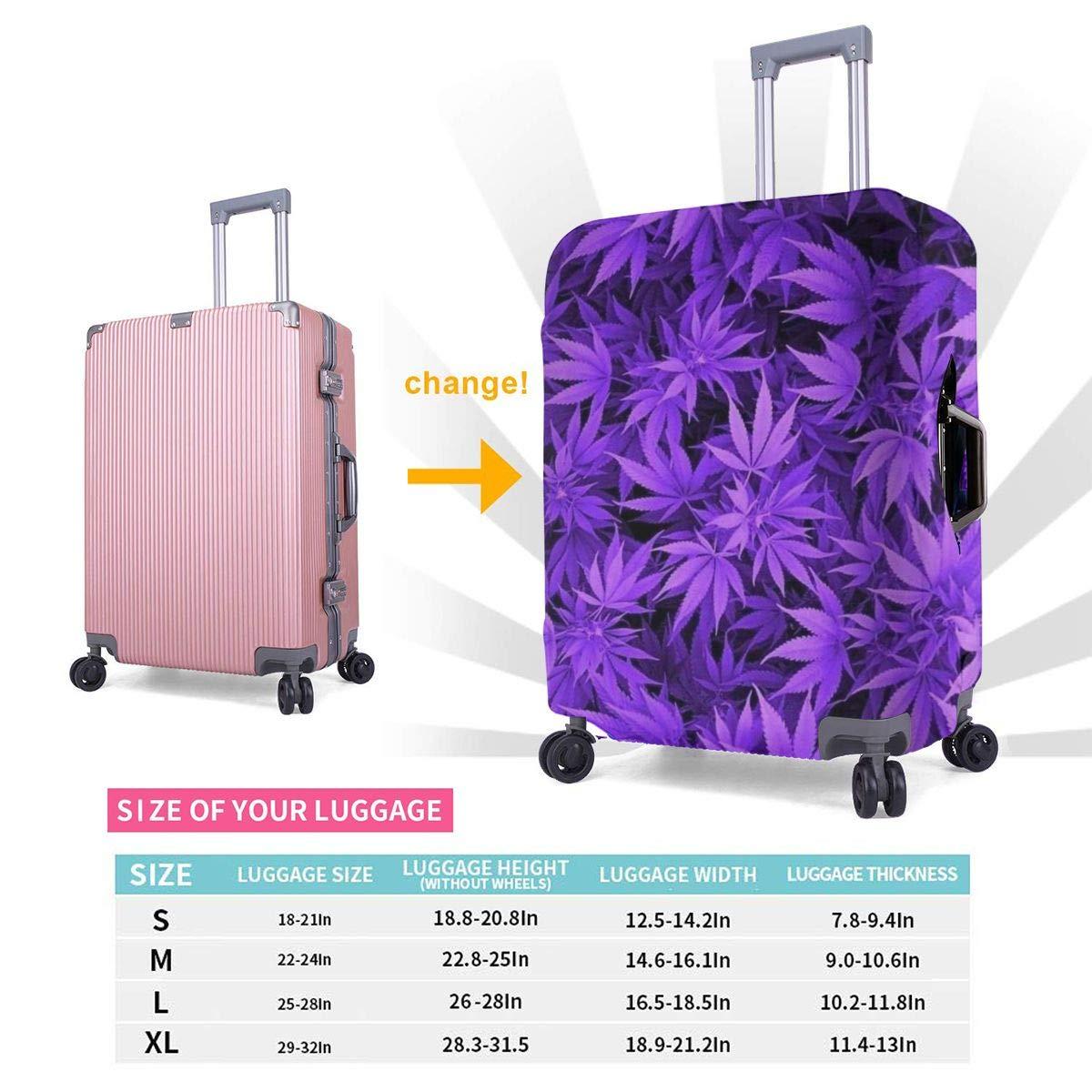 TYDhey Marijuana Weed Leaf Universal Fashion Luggage Suitcase Cover Protector