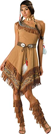 InCharacter Costumes LLC Womenu0027s Indian Maiden Costume Brown Small  sc 1 st  Amazon.com & Amazon.com: InCharacter Costumes Womenu0027s Indian Maiden Costume: Clothing