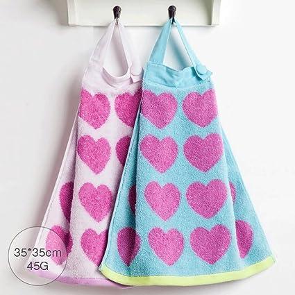 ZLR Encantadora en forma de corazón Jacquard Tipo colgante Toalla para niños Toalla de los niños