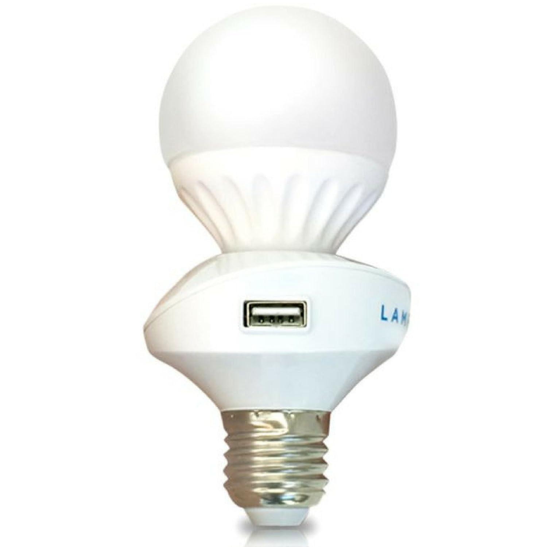 Usb Light Bulb Lampcharger Amp Light Bulb Combo Lamp
