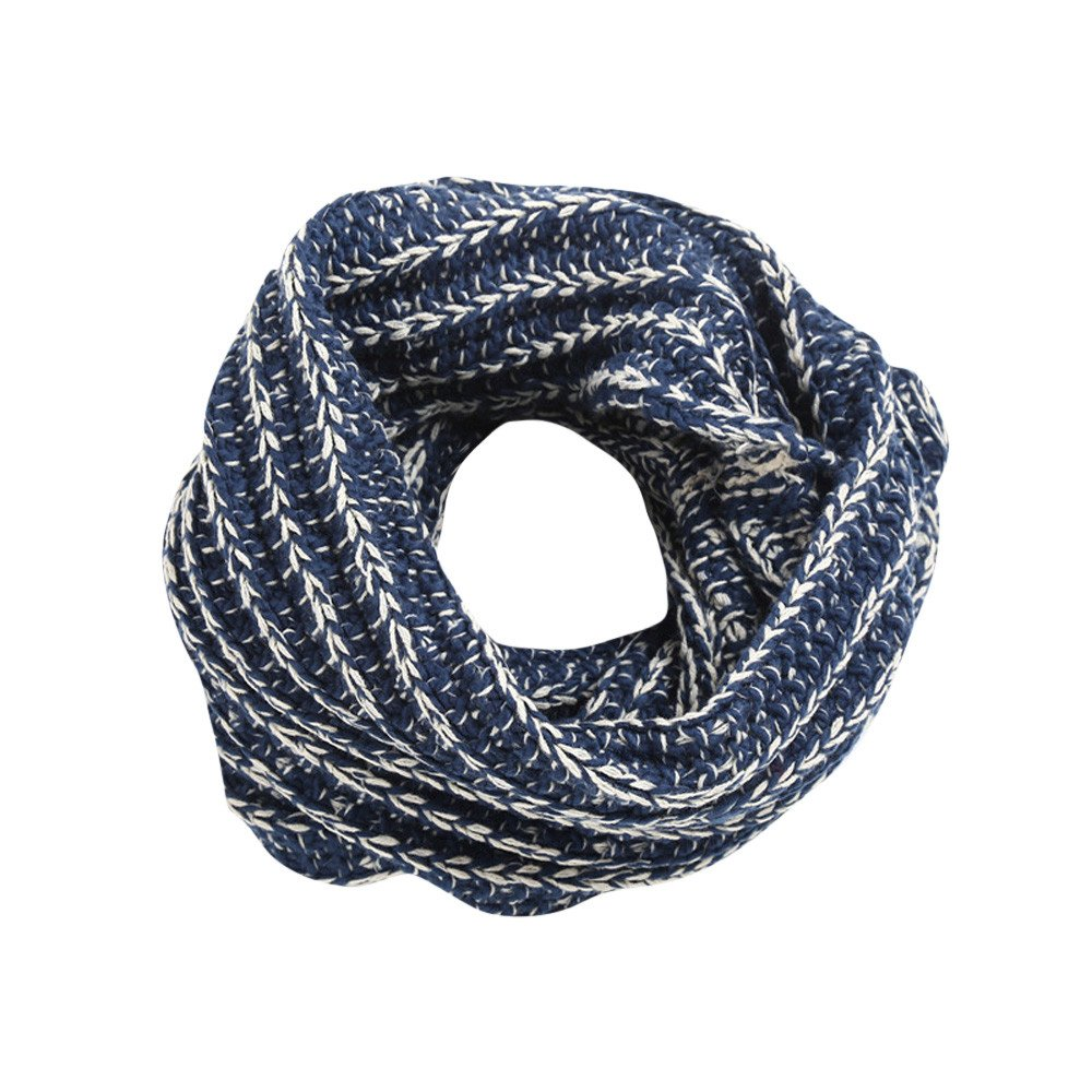 Bolayu Lovely Women Layer Winter Warm Knit Scarf Scarves Ladies Scarf Collar (Navy) by Bolayu