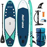 """ISSYAUTO Stand Up Paddle Board Inflatable SUP 10'6""""×31""""×6"""" Ultra-Light Inflatable Paddle Boards, Non-Slip Deck Pad, with…"""