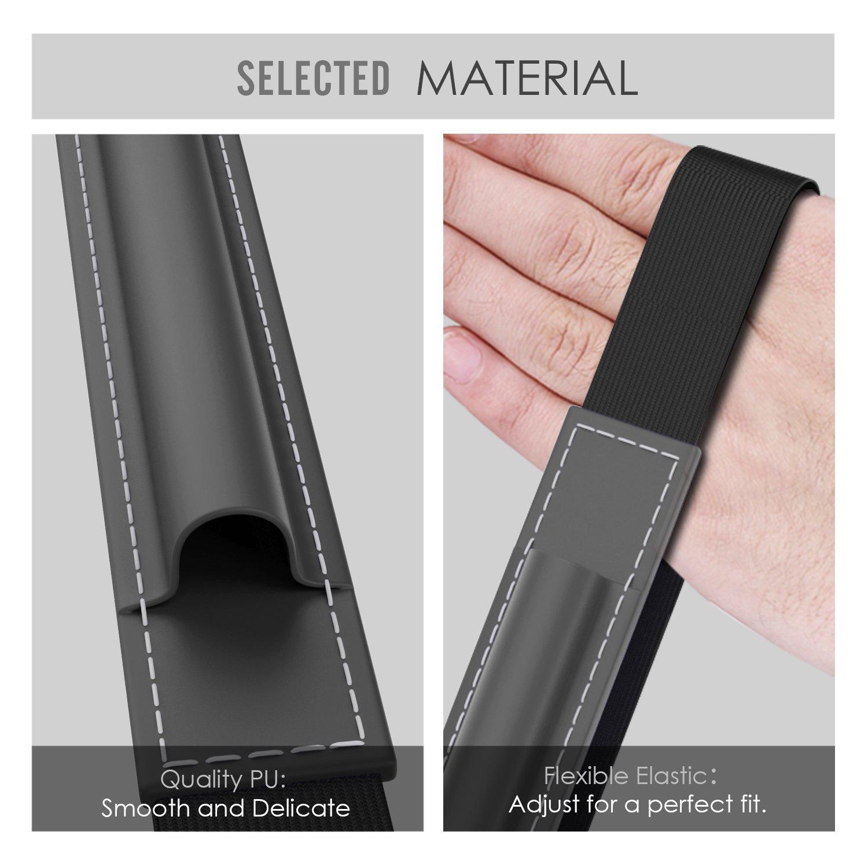 MoKo H/ülle f/ür Microsoft Surface Stift Dunkel Grau Premium PU Leder Tasche Stiftschlaufe Pen Schleife Sleeve Cover Schreibzeug Schreibger/ät Beutel mit eingabauter Tasche und Halter