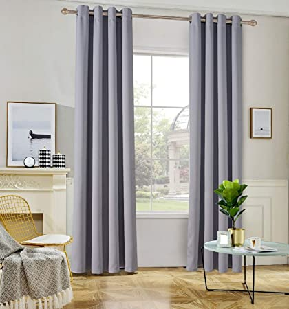TEMNETU Light Blocking Window Treatments Curtains Panels For Bedroom, Soundproof Curtain For Living Room,