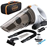 Portable Car Vacuum Cleaner: High Power Corded Handheld Vacuum w/ 16 Foot Cable - 12V - Best Car & Auto Accessories Kit for D