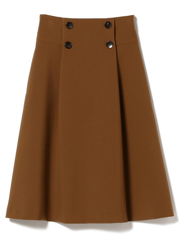 (デミルクスビームス) Demi-Luxe BEAMS スカート フロントボタン Aライン スカート レディース B079F471QM 38|ブラウン ブラウン 38