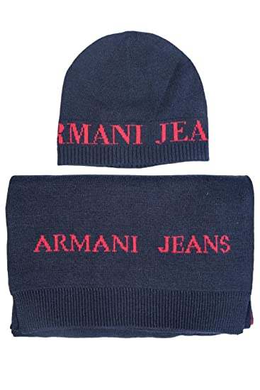 Armani Jeans Beanie and Scarf Grey  Armani  Amazon.co.uk  Clothing 6f098d08c6f
