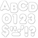 """TREND enterprises, Inc. White 4"""" Casual Uppercase Ready Letters"""
