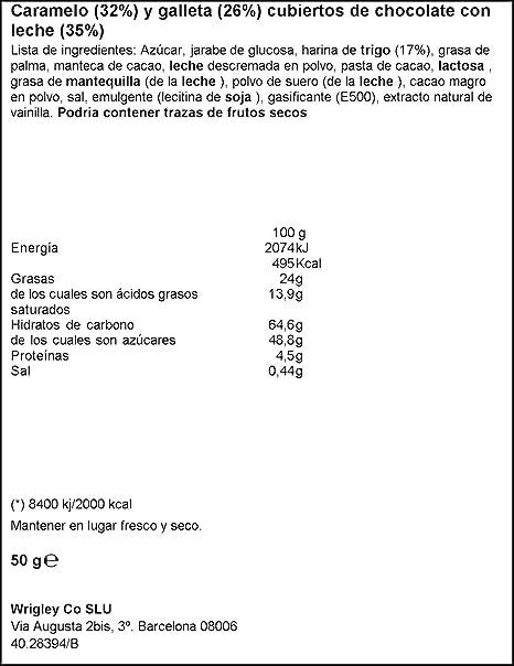 Twix Barrita de Galleta y Caramelo Cubierta de Chocolate con Leche - 50 g: Amazon.es: Amazon Pantry