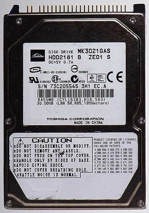 30 GB HDD ordenador portatil TOSHIBA mk3021 Gas hdd2181de id11360