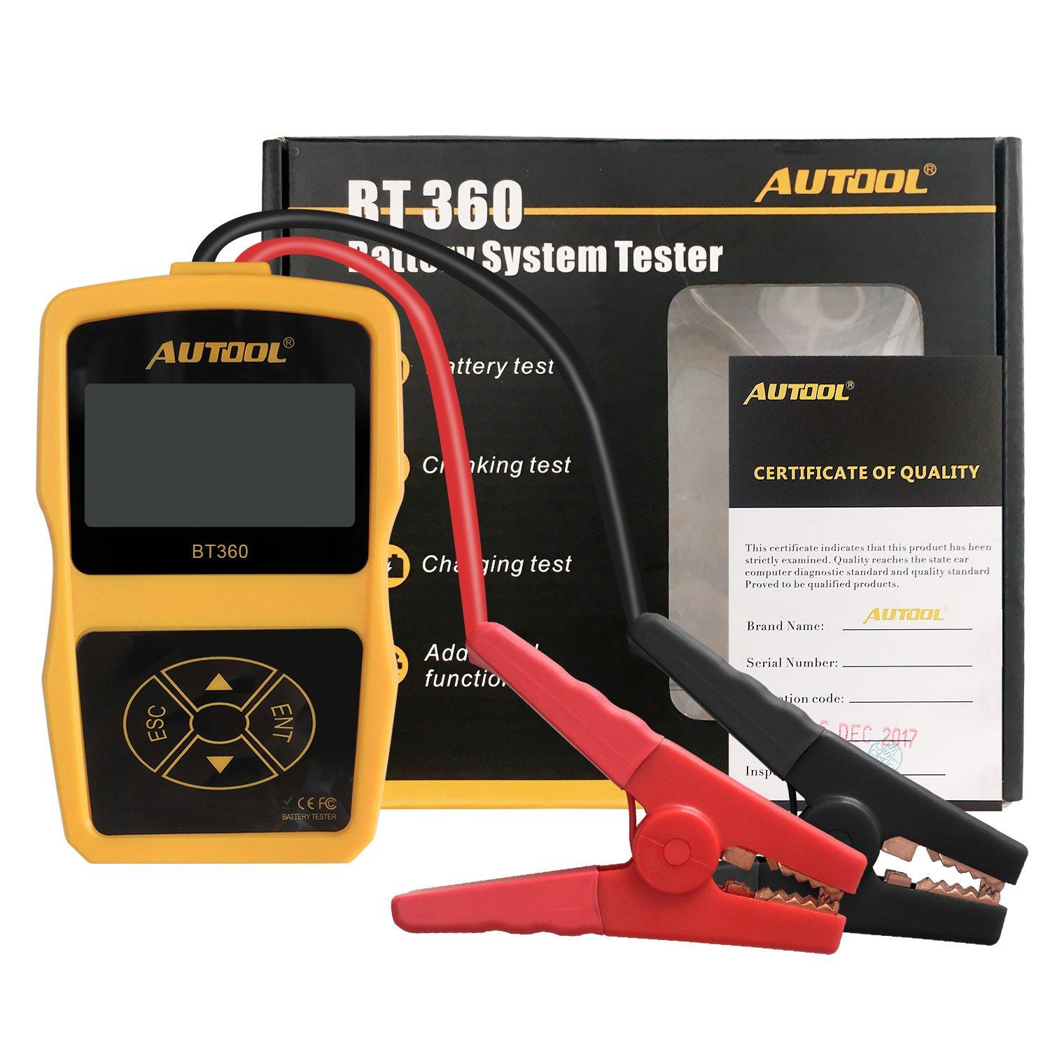 AUTOOL Auto Battery System Tester CCA 100-2400 Bad Cell Test for Regular Flooded, Auto Cranking and Charging System Diagnostic Analyzer for Domestic Cars, Boats by AUTOOL (Image #2)