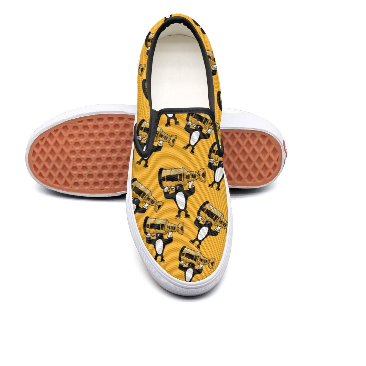 Designsonic Pittsburgh State Cute Penguins Champion Love Ice Hockey Man Trainers Low Top