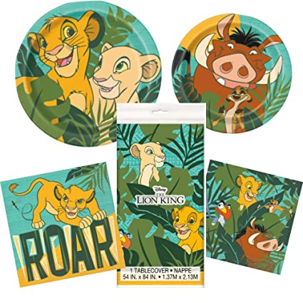 Amazon.com: Lion suministros de fiesta de cumpleaños para ...
