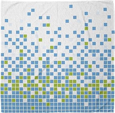 Amazon Com Ambesonne Modern Bandana Mosaic Grid Pixel Art Unisex Head And Neck Tie Clothing