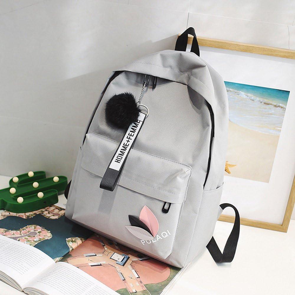 DEELIN New School Bags Fashion Neutral Backpack Bag Shoulder Lightweight Canvas School Bags for Girls Boys Handbag College Large School Backpack