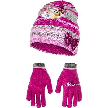 Disney Princess Girls Hat + Gloves Set One Size 2 - 5 Years  Amazon.co.uk   Sports   Outdoors 4a5f318b6b8e