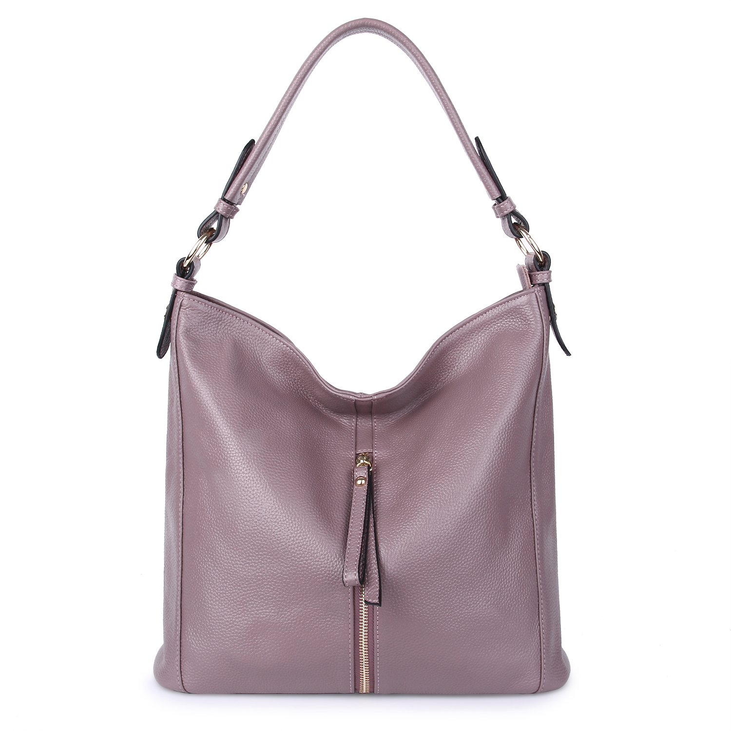a5939cfb0a28 YALUXE Genuine Leather Shoulder Bag Purse Hobo Tote for Womens purple