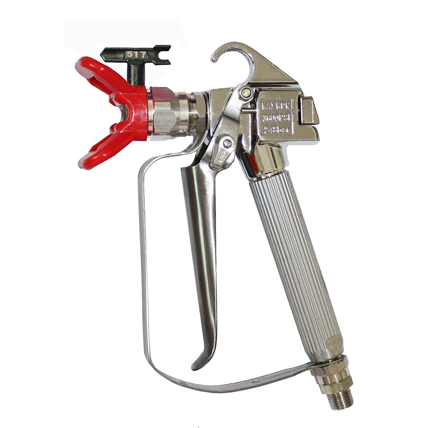 DUSICHIN DUS-036 Airless Paint Spray Gun, High Pressure 3600 PSI 517 TIP Swivel Joint