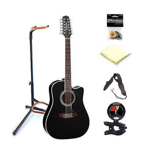 TAKAMINE ef381sc correas de soporte para guitarra eléctrica de mano con clip en afinador de guitarra, ...