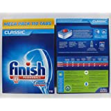 Finish Classic Powerball Dishwasher Tablets - Megpack - (Total 110 Tablets)